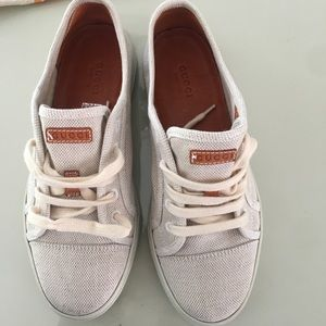Gucci Shoes - Gucci Beige Sneakers